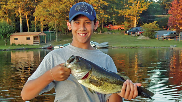 This camper caught a nice largemouth bass at Otter Lake Camp  Resort