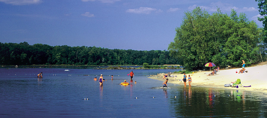 The beach at Otter Lake Camp  Resort